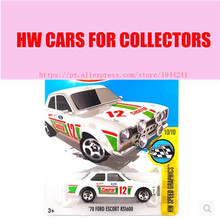 Toy cars Alloy Mini Roadster Diecast Cars FORD ESCORT RS1600 For Collection Wholesale Metal Cars Hot Wheels 1:64(China)