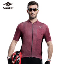 Santic Cycling Jersey 2017 Pro Team DH Tour De France Jersey Breathable Anti-sweat Mtb Bike Bicycle Jersey For Men S-3XL