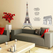 Hot style can remove PVC wall posted sell like hot cakes Eiffel Tower in Paris arc DE triomphe home decoration stickers(China)
