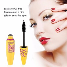 2017 Fashion Women Black Mascara Volume Express Brand Eye Makeup Tool Length Extension Long Curling Eyelashes Cosmetics Make up(China)