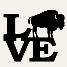 Buffalo Love Cute wild animals Car Sticker Truck Window Bumper motorcycles Door Vinyl Decal Strong Bison Rocky Mountain Faithful