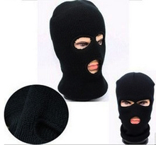 JETTING 3 Hole Mask Balaclava Black Knit Hat Face Shield Beanie Cap Snow Winter Warm