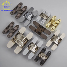 2 pcs 304 stainless steel folding cross hinge 06 coincide page hidden hinge concealed hinge hidden hinge(China)