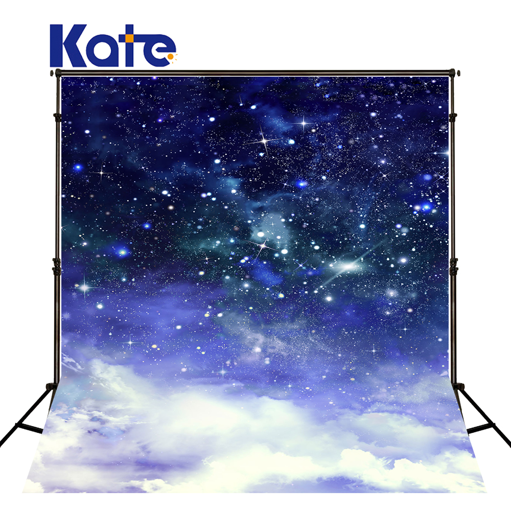 Kate Dark Blue Starry Sky Baby Photography Backdrops With Cloud Studio Washable Seamless Photography Background Material <br>