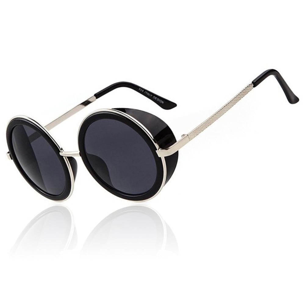 New Steampunk Women Sunglasses Coating Sun Glasses Vintage Round Sunglass Brand Designer Gafas Oculos de sol feminino Sunglasses<br><br>Aliexpress
