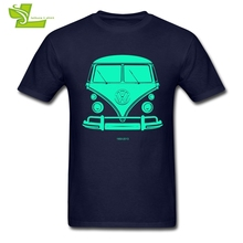 VW BUS T Shirt Adult Latest Unique Tshirts Printed T-Shirt 1950-2013 Men's Short Sleeve Crew Neck Picture Dad Clothing(China)