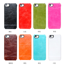 4 Colors 100% Original HOCO BOROFONE Brand Genuine Natural Cow Skin Cover for iphone5 phone case for iphone 5S SE Free Shipping(China)
