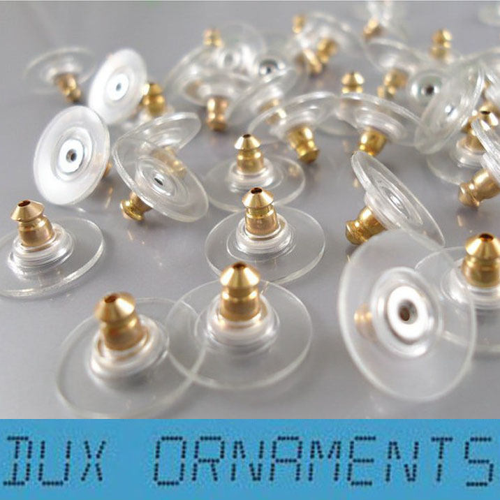 500 PCS Silver Golden Ear Post Nuts Pad Earring Backs Stoppers Jewelry Finding