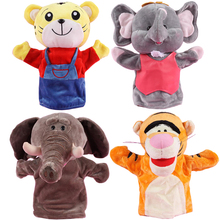 Child Animal Hand Puppet Dolls Interactive Plush Toy Elephant Panda Hand Puppets Doll Learning Baby Toys Christmas Birthday Gift(China)