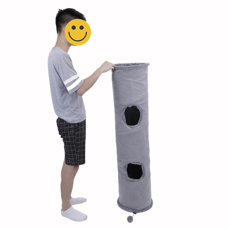 play cat tunnel big cat tunnel Big Long Cat Tunnel with Play Ball Suede Material-Free Shipping HTB1YSIRmjihSKJjy0Fiq6AuiFXaN
