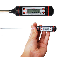 Kitchen Cooking Food Meat Probe Digital BBQ Thermometer, Gas Oven Thermometer  Tools Christmas  Gift  6LOS