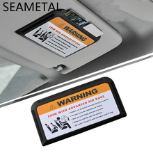 Car-styling Card Slot Sun Visor Organizer Plate Holder Warning Decoration Storage Conversion Supplies Stickers on Cars Styling