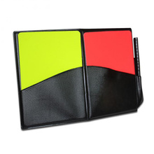 Booklet Great Soccer 1 Set Football Referee Case Portable with Pencil Game Yellow Red Card Useful PVC Standard Bookings(China)