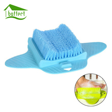 Shower Brush Foot Massager Foot Scrub Rubbing Brushes Exfoliating Scrubber Feet Spa Shower Remove Sole Dead Skin Cleaning Brush(China)
