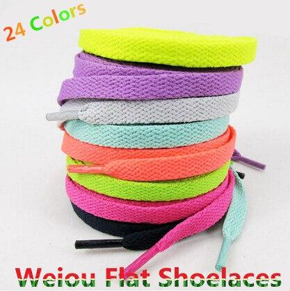 Hot Sales 1 Pair Shoelace Athletic Sport Sneakers Flat Shoelaces Bootlaces Shoe laces Strings For Multi Color 120cm/47<br><br>Aliexpress