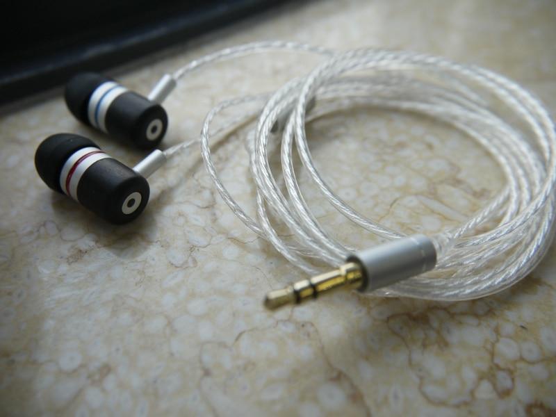 DIY  IE800 earphone 5N silver plated wire Macassar Ebony shell<br>