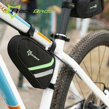 ROCKBROS Outdoor Triangle Bag Cycling Bike Tube Bag Reflective Bicycle Repair Tool Bag Bicycle Frame Front Bag Bolso