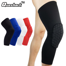 1Pc Long Anti-collision Honeybomb Basketball Knee Pads Football Calf Knee Brace Support Leg Sleeve Knee Protector Ski Kneepads(China)