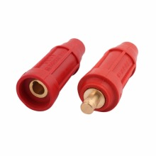 DKL-50 200-315A 50mm2 Welding Cable Quick Fitting Soldering Male Female Connector Red