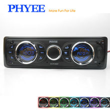1 Din Removable Detachable Panel Autoradio Bluetooth Car Radio Auto AM FM RDS Stereo Audio Player USB SD ISO 7 Colors Lighting