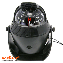 HORUSDY Black ABS Macromolecule Plastic LED Light Digital Compass Magnetic Sphere Marine Military Electronic Boat Car Compass