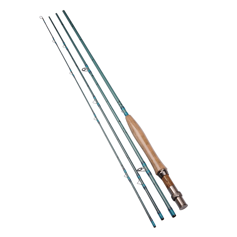 9ft/2.7M 4 Sections 3/4 Carbon Fly Fishing Rod 114g/4oz Saltwater/Freshwater Fly Rod w/ A-Grade Cork Handle Aluminum Reel Seat(China (Mainland))