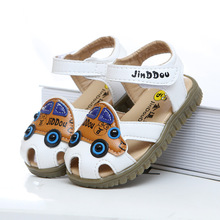 2016 New Summer Baby Sandals Boy Cartoon Car Hollow Breathable Shoes Childre a Brand  Sandal Boys Korea Free Shipping