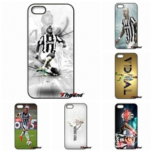 For iPhone 4 4S 5 5C SE 6 6S 7 Plus Samung Galaxy J5 J3 J7 A5 A3 S7 S6 Edge Arturo Vidal juventus Football Star Phone Cover