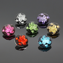 10pcs/lot Resin Flower Snap Buttons fit 18mm/20mm DIY Accessories Snap Bracelet wholesale NA12-038