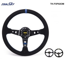 TANSKY - Modified steering wheel Suede leather steering wheel automobile race steering wheel steering wheel TK-FXP02OM(China)