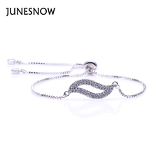 JUNESONW 2017 new fashion woman Beauty and temperament of coexistence of silver plated bracelet set off women's DAY jewelry1005(China)