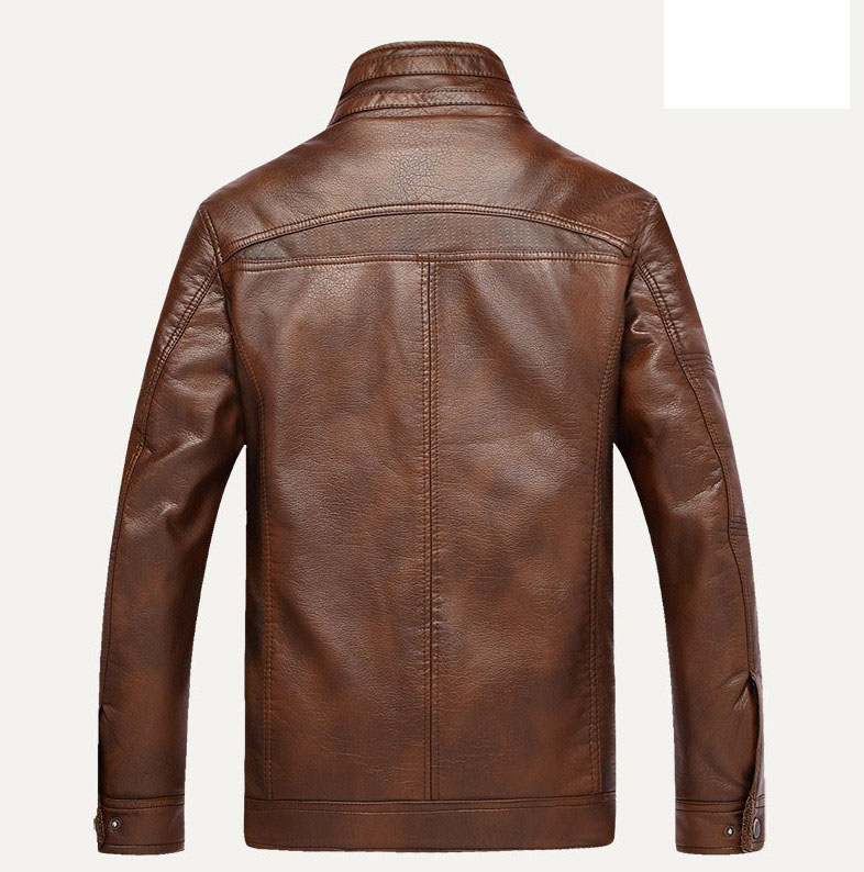 Leather Jacket Men jaqueta de couro masculina Men's Thick PU leather coat  Men casual Winter Faux Fur Male Jacket Fleece M-5XL