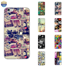 Phone Case For Apple iPhone 7 Plus Shell 5 5C SE 6 6S Plus Back Cover 4.7 5.5 Inch Cellphone Soft TPU Puzzle Design Painted