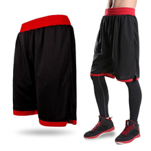 New 2017 Men's Basketball Shorts Boy Sport Running Short Trousers Training Fitness Elastic Summer Beach Gym Breathable Plus Size(China)