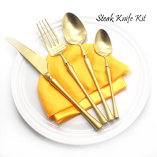 Best 4Pcs/Set Metal Stainless Steel Flatware Set Knife Fork Spoon Cutlery Set Exports to Europe and the United States