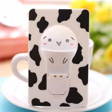 Free Shipping New Cute Unplugged Battery Saving Lamp Night Light Card Creative Small Bedside Wall Lamp