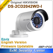 Original hikvision English version 4Mp Bullet camera DS-2CD2042WD-I replace DS-2CD2035-I 4MP IR Bullet Network Camera