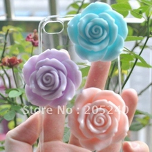 12pcs,3colors Mixed, 46mm,Cute Flat Back Resin Flower For Diy Phone Decoration