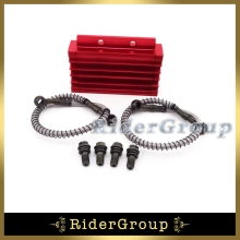 Oil Cooler Red CNC For Chinese Pit Dirt Bike Motorcycle 125cc 140cc 150cc Lifan YX Zongshen BSE Kayo CRF50 Thumpstar