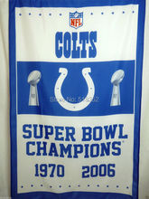 Indianapolis Colts Super Bowl Champions- Flag 3x5 FT 150X90CM NFL Banner 100D Polyester Custom flag grommets 6038(China)