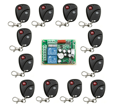 Household  AC 220 V 2 CH Wireless Remote Control Switch 1  receiver + 12  transmitter  household appliances/lamp