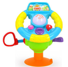 kids toys simulation car steering wheel toy /battery operated  steering-wheel  educational toys l with light music