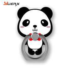 panda cartoon mobile phone ring stent 360 degree rotate freely Acrylic bracket for smart phone/ipad/tablets