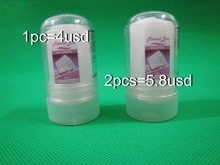 Free shipping for 2pcs 60g alum stick,deodorant stick,antiperspirant stick,alum deodorant,tawas stick,crystal deodorant(China)