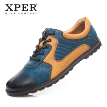 2018 XPER Brand Men Casual Shoes Breathable Men Flats Walking Shoes Mixed Colours Sporty Sneakers For Men Big Size YM86826BU(China)