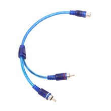 1 Female RCA 2 Male Splitter Connector Stereo Audio Signal Adapter Cable Wire #R179T#Drop Shipping