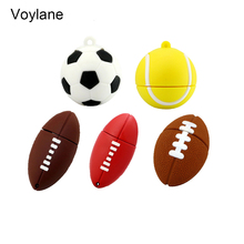 5 style Sports ball usb flash drive 4GB 8GB 16GB 32GB memory stick rugby Pendrive football Pendriver tennis usb disk USB 2.0
