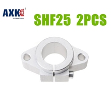 2017 Top Fashion Hot Sale Aluminium Ball Bearing Axk 2pcs/lot Shf25 25mm Linear Shaft Support Rod End Xyz Table Cnc Parts(China)