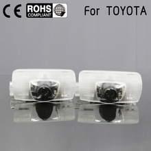 Door light replace For Toyota Highlander Camry corolla Reize crown Prado Prius 7W Led door logo projector welcome light laser(China)