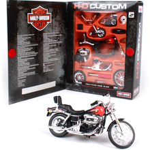 Maisto 1:18 Simulation Harley Motorcycle Toy Die cast Metal 1980 FXWG Wide Glide Model Motorbike Adult Assembled Kit Juguetes(China)